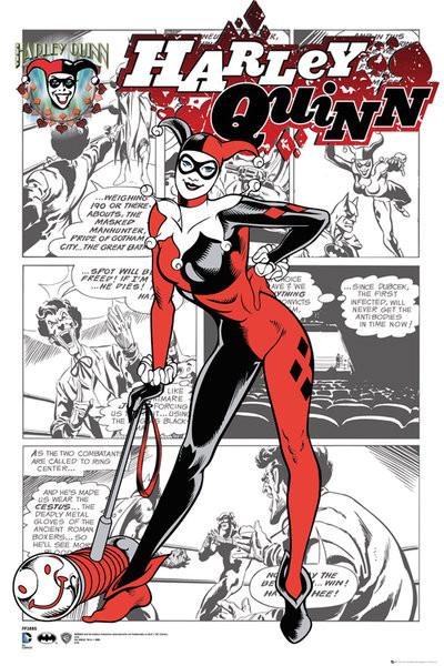DC Comics Harley Quinn Coloring Poster Bedroom Ideas
