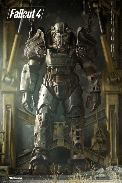 Fallout 4 key art poster poster sold at ukposters for Fallout 4 canvas painting
