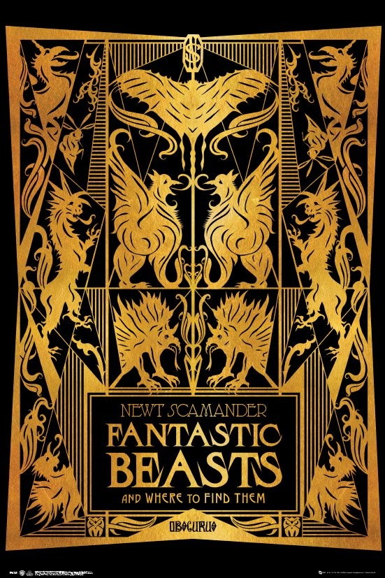 ea28e85c48 Fantastic Beasts And Where To Find Them - Book Cover Poster | Sold ...