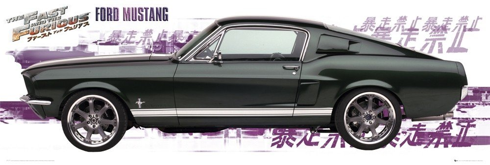 fast and furious ford mustang poster sold at europosters. Black Bedroom Furniture Sets. Home Design Ideas