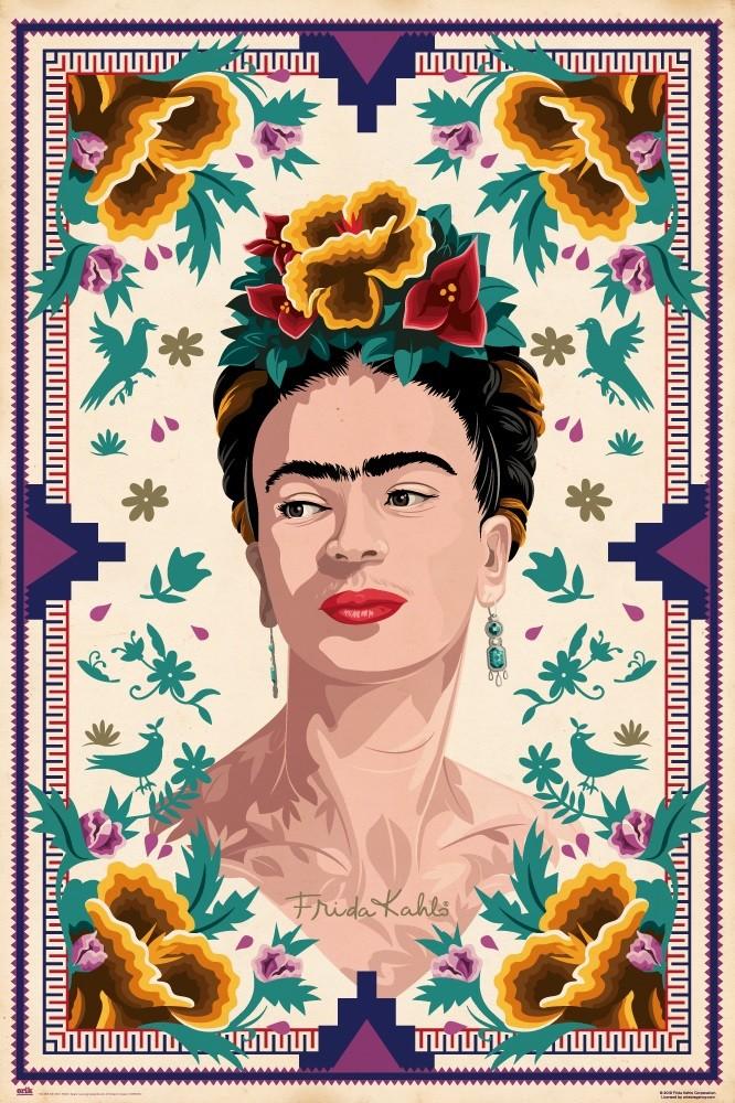 Artwork Frida Kahlo Poster Plakat Handmade Graffiti Street Art
