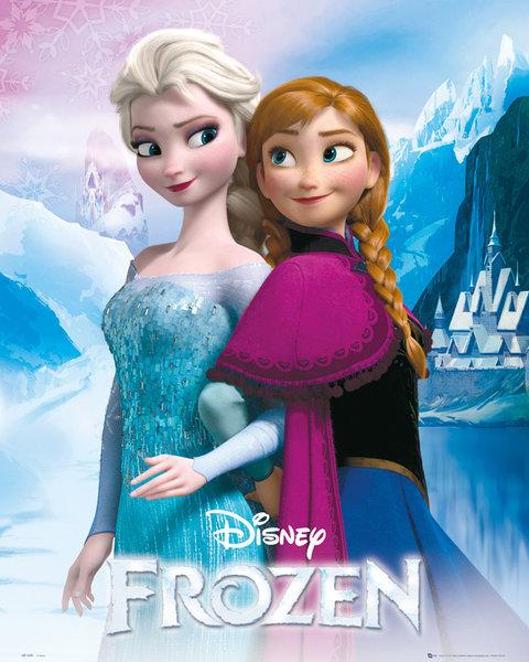 Poster Quadro Frozen Elsa And Anna Em Europosters Pt