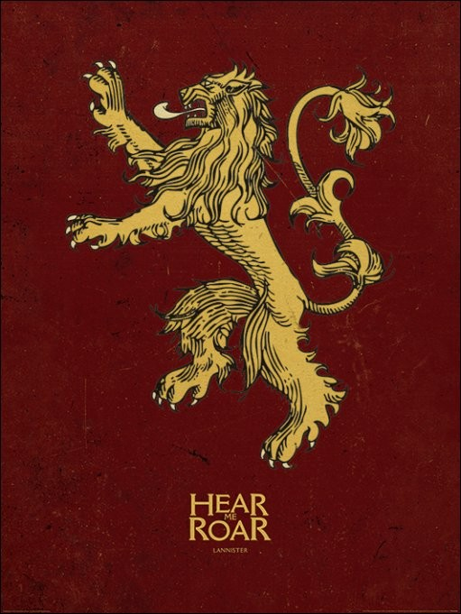 Game of Thrones - Lannister Art Print | Buy at EuroPosters