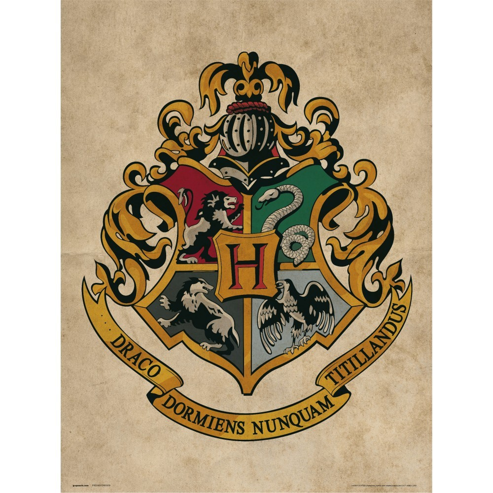 This is an image of Crush Hogwarts Crest Printable