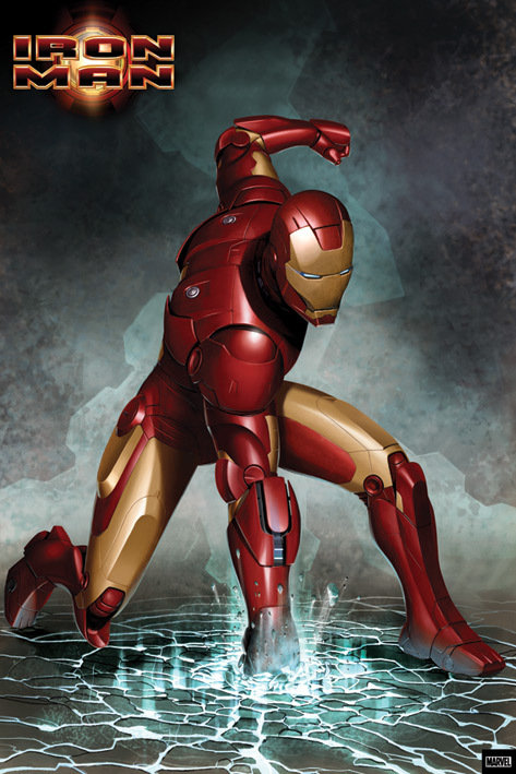 Iron man punch poster sold at ukposters - Iron man 1 images ...