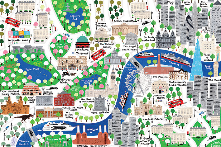Jamie Malone London Poster Sold At Abposterscom