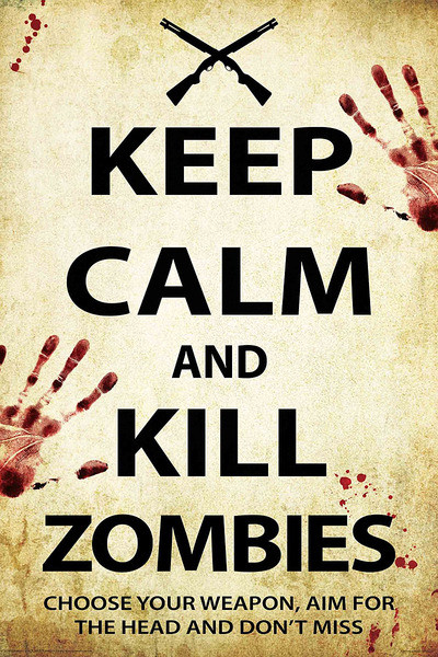 keep calm and kill zombies poster sold at europosters