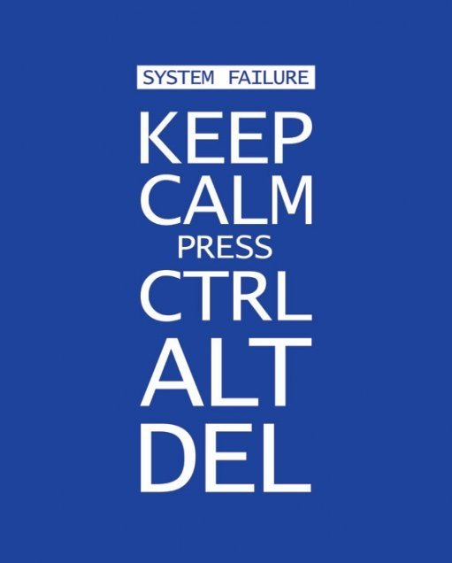 Keep Calm Press Ctrl Alt Delete Poster