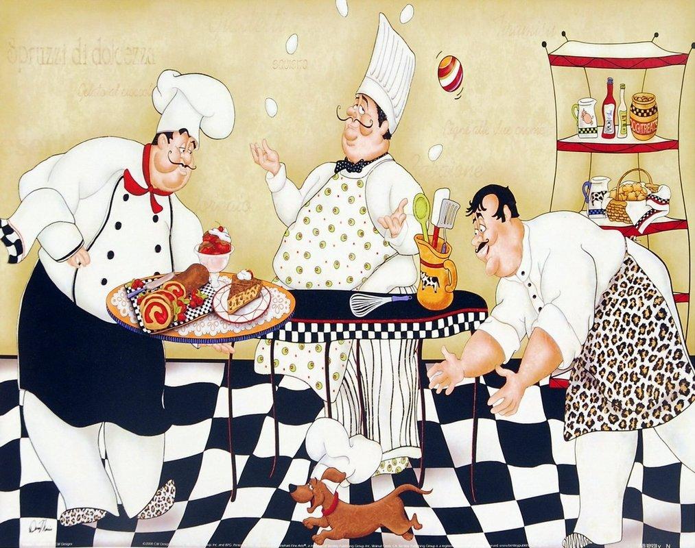 Bon Kitchen Kapers II Art Print By CW Designs, Inc.
