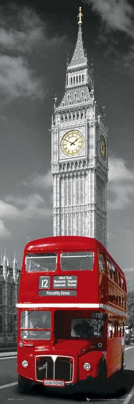 London big ben bus poster sold at europosters - Behang london ...