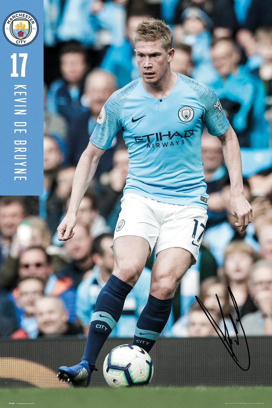 Manchester City De Bruyne 18 19 Poster