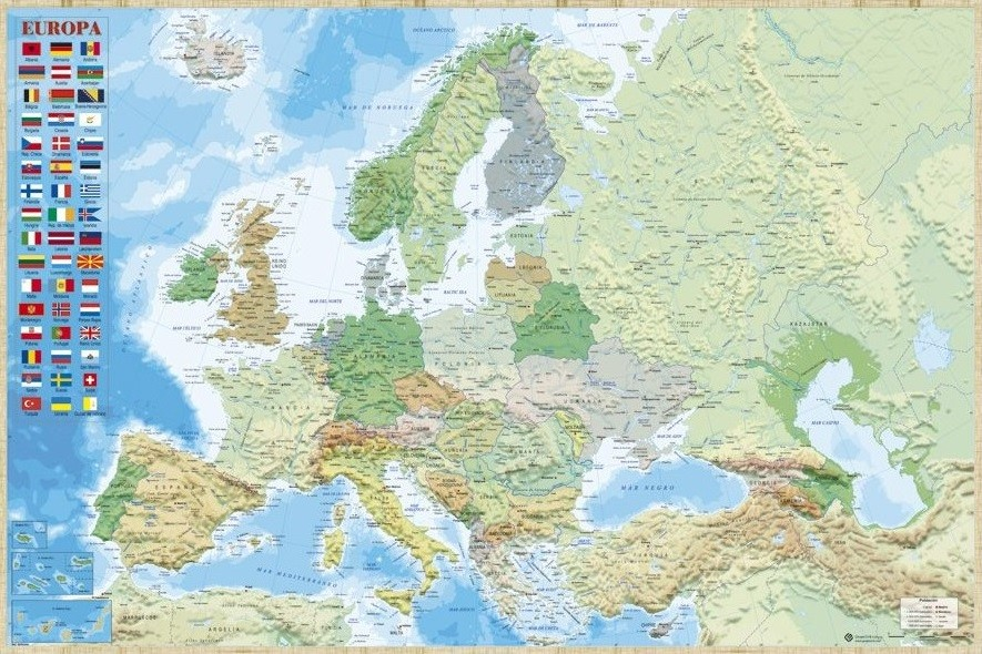 Map Of Europe Political Poster Sold At Abposters Com
