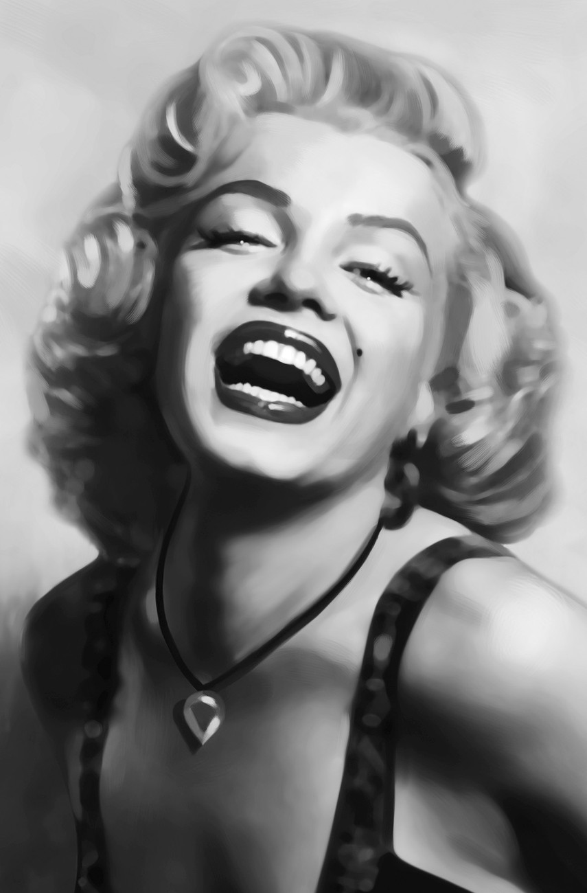 Marilyn monroe poster sold at europosters for Black and white wall mural