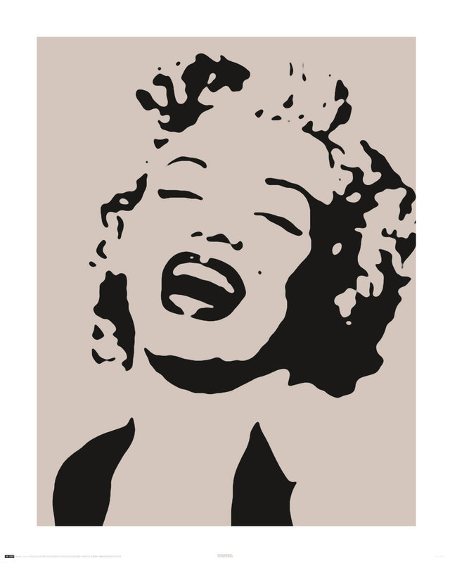 marilyn monroe stencil poster sold at europosters