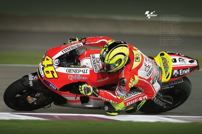 moto gp valentino rossi poster sold at europosters. Black Bedroom Furniture Sets. Home Design Ideas