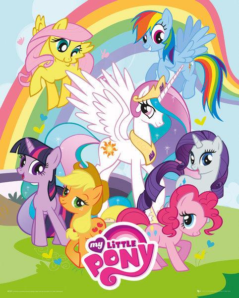 Poster quadro my little pony group em - My little pony en dessin anime ...