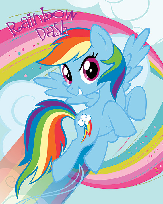 my little pony  rainbow dash poster  sold at abposters