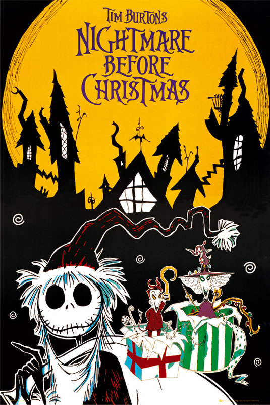 nightmare before christmas town poster