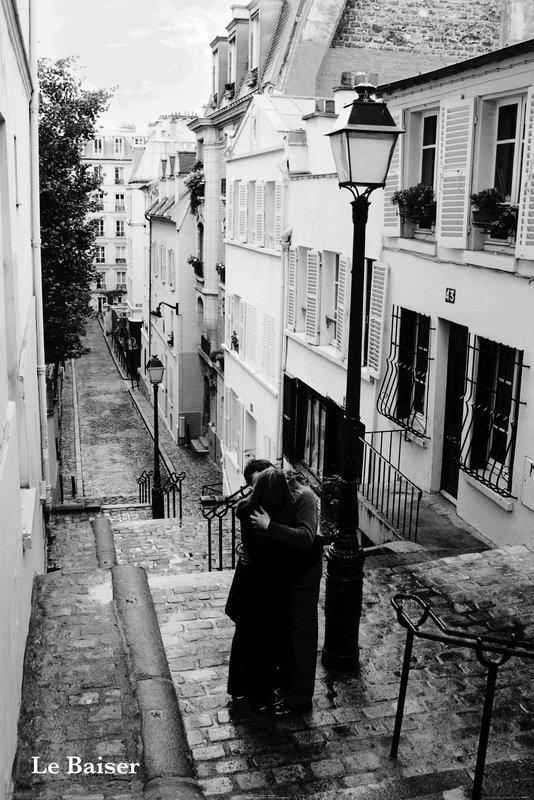 Paris le baiser poster sold at europosters