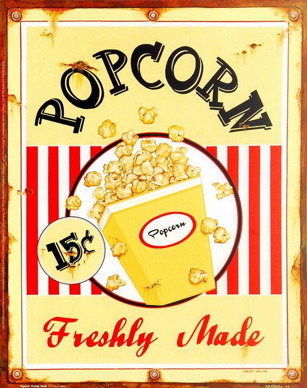 Popcorn Freshly Made Art Print | Buy at Abposters.com