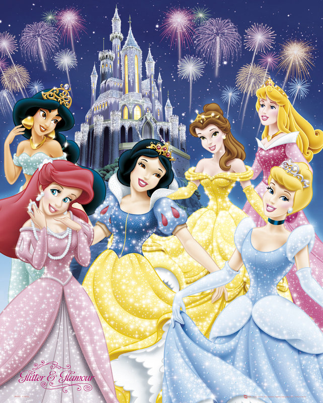 poster quadro princesas disney glamour em. Black Bedroom Furniture Sets. Home Design Ideas