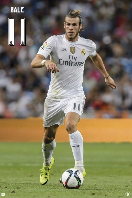 Real Madrid 2015 2016 - Bale accion Poster  bb954eae50
