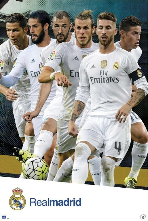 Real Madrid 2015 2016 - Grupo accion Poster  a7bf997483