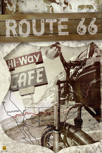 66 Best Images About Anime Tarot On Pinterest: Route 66 - Map Poster
