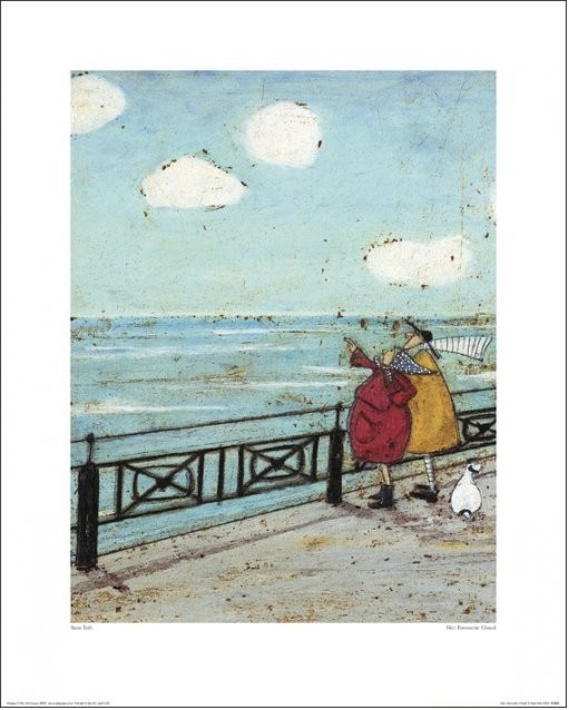 Sam Toft - Her Favourite Cloud Art Print | Buy at UKposters