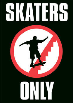 Skaters only Poster | Sold at Abposters.com