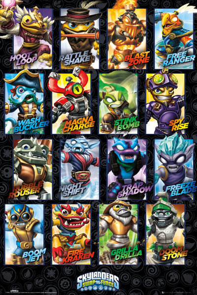 skylanders swap force swappable characters poster sold at