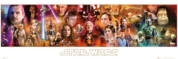 Star wars complete saga poster sold at europosters for Order cheap prints online
