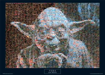 Star Wars Yoda Photomosaic Poster Sold At Europosters