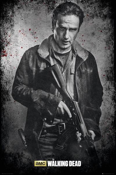 the walking dead rick b w poster sold at europosters. Black Bedroom Furniture Sets. Home Design Ideas