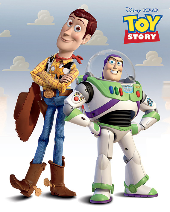 Toy Story - Woody   Buzz Poster  5548627cdca