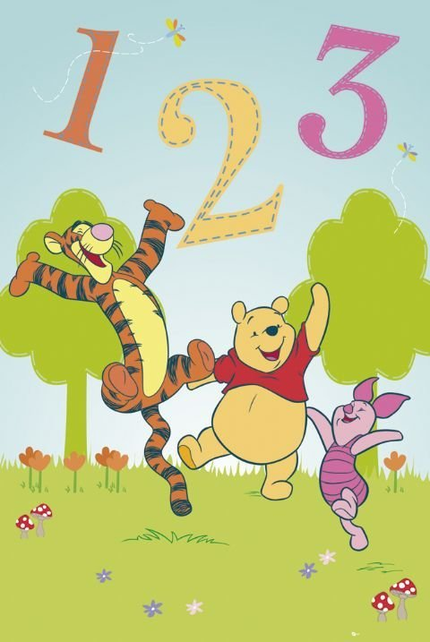 winnie the pooh 1 2 3 poster sold at. Black Bedroom Furniture Sets. Home Design Ideas