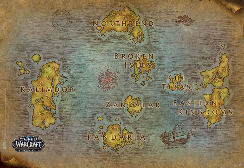 World Of Warcraft Map Poster Sold At Europosters