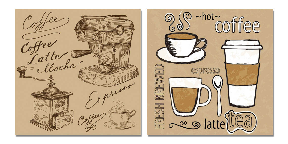 Coffee Mounted Art Print