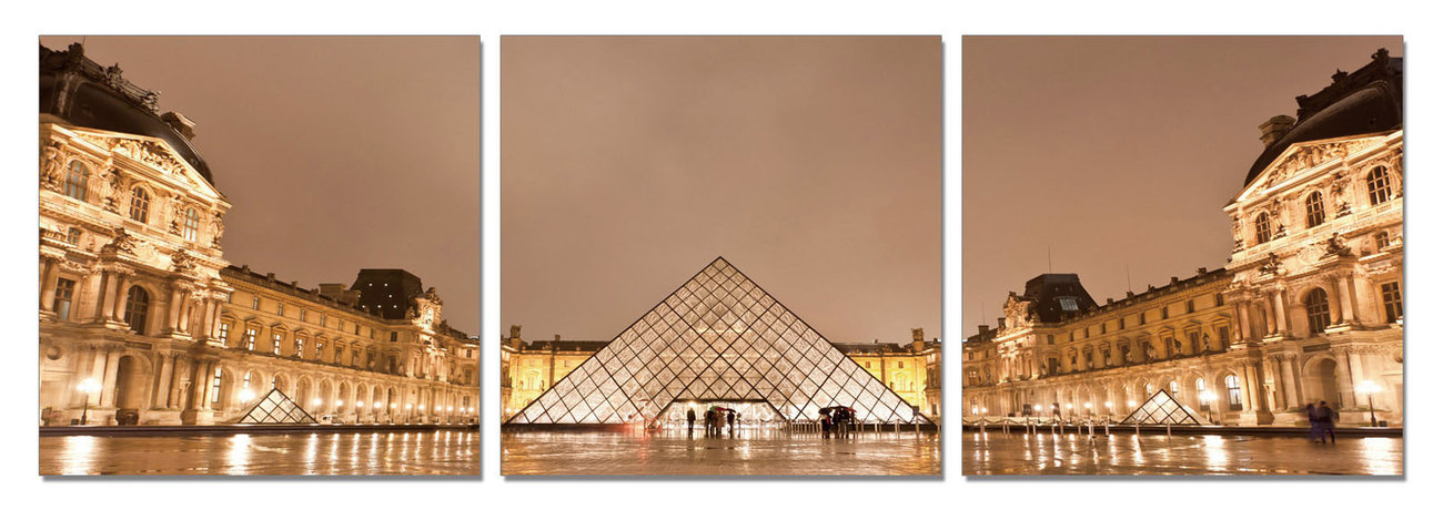 Paris - Le Louvre Mounted Art Print