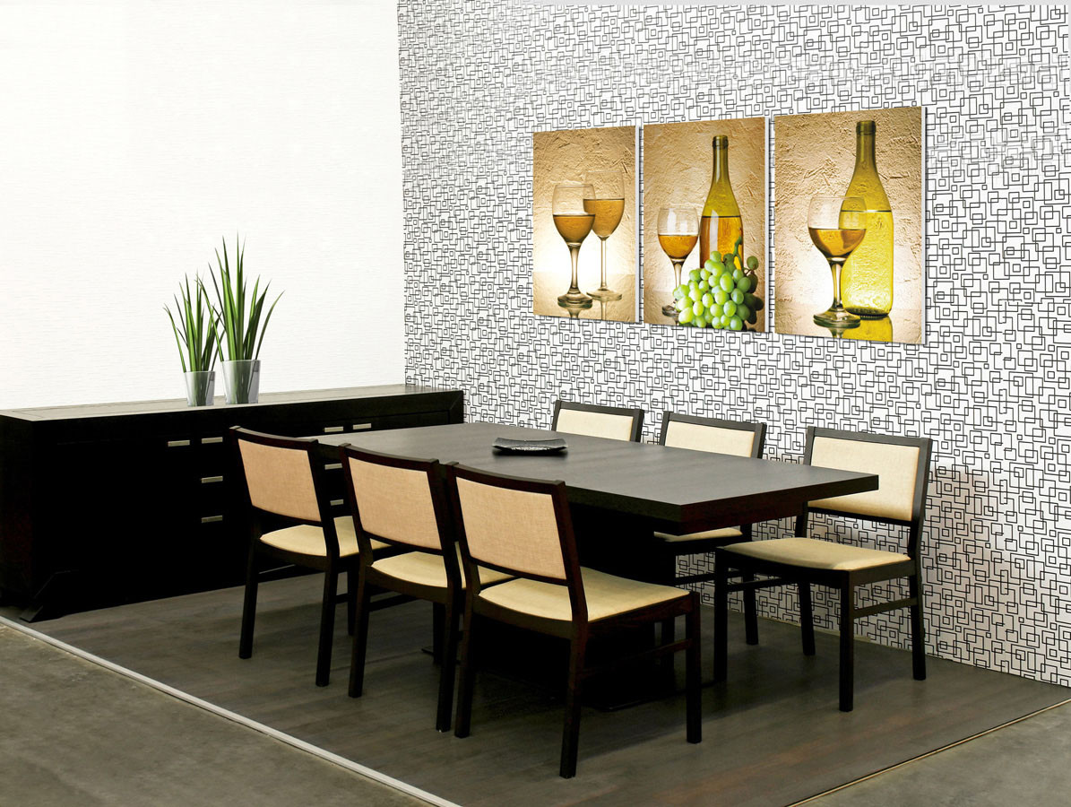 White Wine Mounted Art Print