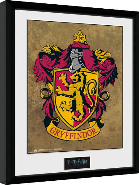 Harry Potter Gryffindor Poster Emoldurado