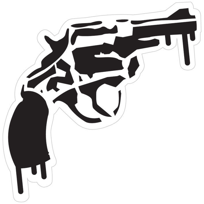 Gun Sticker Sold At Ukposters