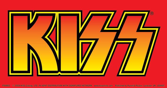 Kiss classic logo sticker