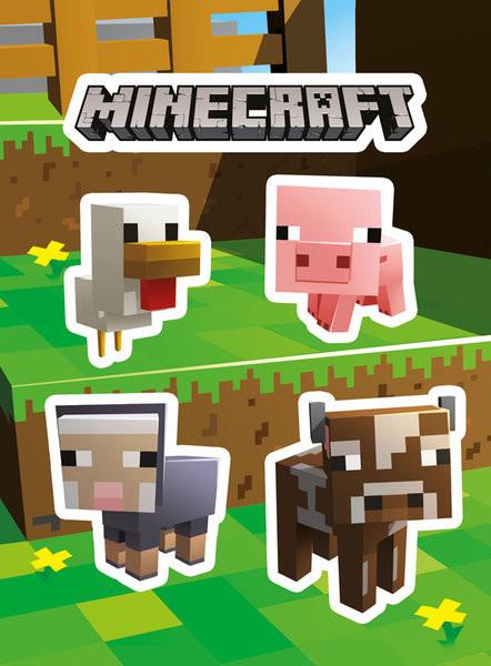 Minecraft Animals Sticker Sold At Abposters Com