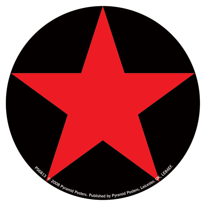 Red Star Sticker Sold At Europosters