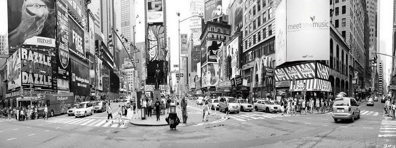 Tableau sur verre New York - Times Square Rush