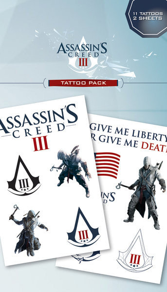 Assassin S Creed Iii Connor Logos Tattoo Sold At Europosters
