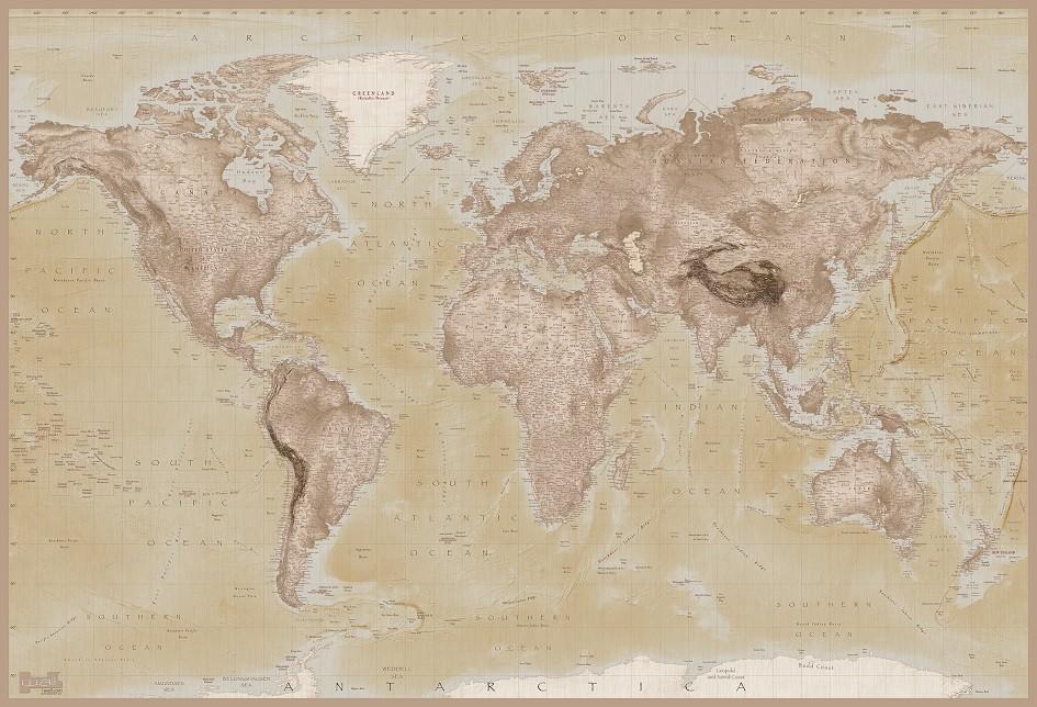 Acheter Du Papier Peint : carte du monde poster mural papier peint acheter le sur ~ Edinachiropracticcenter.com Idées de Décoration