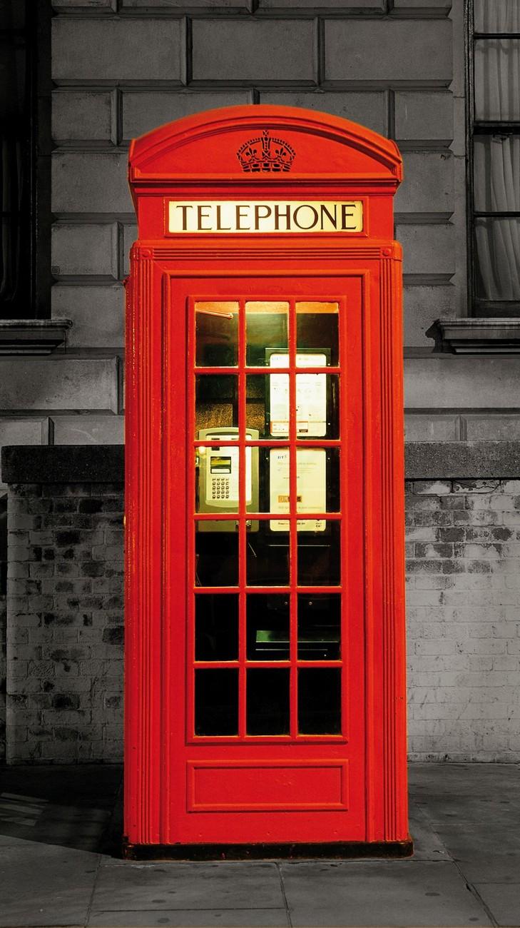 london la cabine t l phonique rouge poster mural papier peint acheter le sur. Black Bedroom Furniture Sets. Home Design Ideas