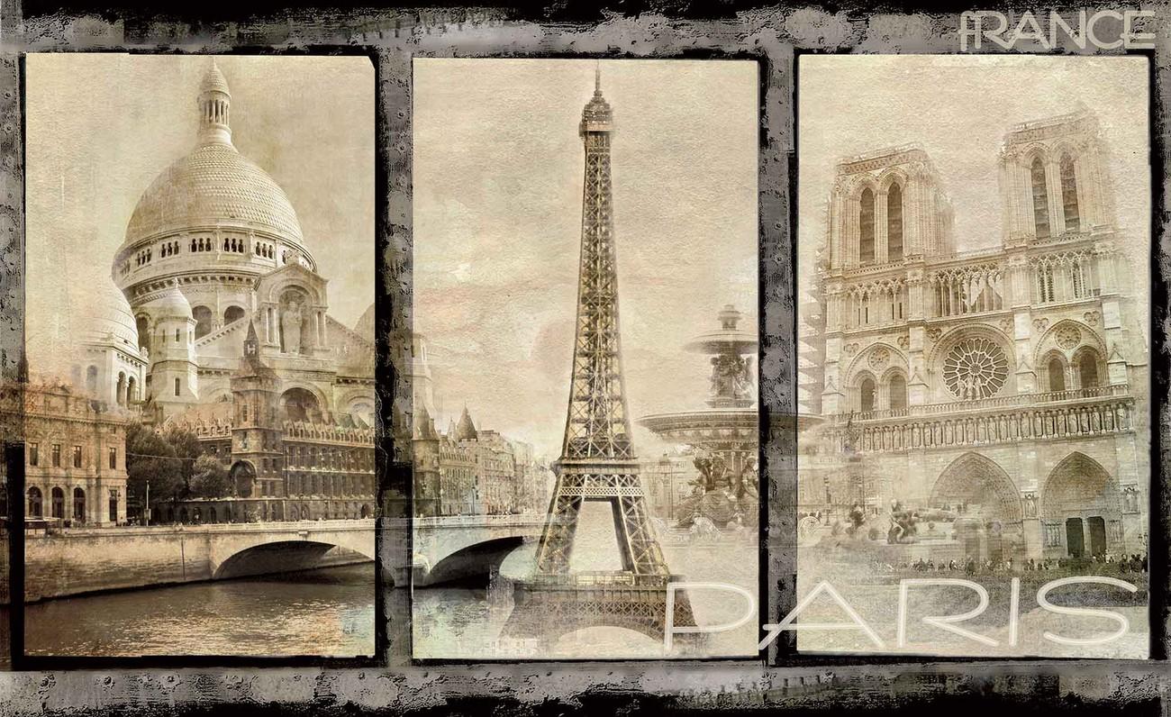 paris city poster mural papier peint acheter le sur. Black Bedroom Furniture Sets. Home Design Ideas